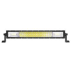 LED Tri-Row Light Bar Straight 324W 32400LM Off Road Driving Fog Lights Lens Super Bright for Jeep Trucks Boats ATV Cars IP68 9-32V DC