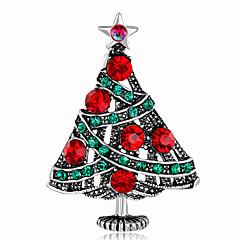 女性用 ブローチ ラインストーン ファッション クリスマス 合金 ジュエリー ジュエリー 用途 クリスマス