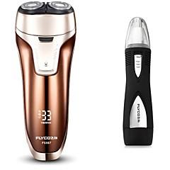 billige Barbering og hårfjerning-Elektriske barbermaskiner Vannavvisende Strømlys Indikator Avtagbar Ladestatus Håndholdt design Vaskbar Ergonomisk Design Rask lading