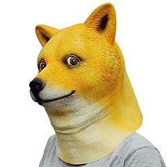 halloween neuheit gruseligen gummi tier doge shiba inu hund kopf maske kopf maskerade cosplay maske party kostüm prop