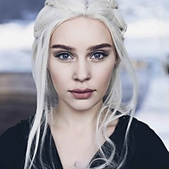 cheap Wigs & Hair Pieces-Synthetic Lace Front Wig Women's Loose Wave Blonde Synthetic Hair Blonde Wig Long Lace Front Platinum Blonde Uniwigs