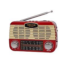 Χαμηλού Κόστους Ράδιο-RF-382BT FM / AM Φορητό ραδιόφωνο MP3 player / Φακός / Bluetooth Κάρτα SD Παγκόσμιος δέκτης Μαύρο / Γκρίζο / Κόκκινο