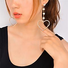 お買い得  ファッションピアス・イヤリング-女性用 ブラブライヤリング 人造真珠 ラインストーン ぶら下がり式 人造真珠 ファッション 愛らしいです あり 欧米の 人造真珠 ラインストーン ハート ジュエリー 用途 パーティー イベント/パーティー お出かけ