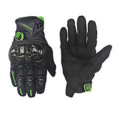 baratos Luvas de Motociclista-Dedo Total Homens / Unisexo Motos luvas PU Leather / Escova de Cabelo de Cabra / Fibra de carbono Prova-de-Água / Leve / Manter Quente