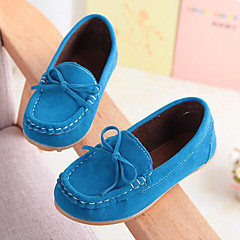 Boys' Shoes Suede Summer Fall Moccasin Comfort Loafers & Slip-Ons Bowknot for Casual Party & Evening Yellow Fuchsia Brown Blue Wine