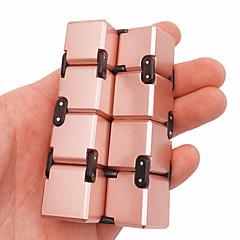billige Håndspinnere-Evighetskube Fidgetleker Magiske kuber Pedagogisk leke Stresslindrende leker Nyhet Metallisk Plast 1pcs Deler Gutt Barne Voksne Gave