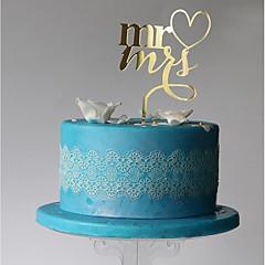 cake topper monogram plastic huwelijksfeest met pvc-zak huwelijksontvangst