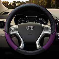 billige Rattovertrekk til bilen-Rattovertrekk til bilen polyester 38 cm kaffe / Svart / Lilla / Sitron For Hyundai General motors