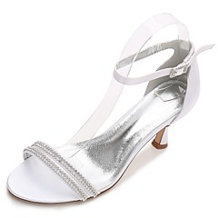cheap Wedding Shoes-Women's Shoes Satin Spring Summer Comfort D'Orsay & Two-Piece Basic Pump Ankle Strap Wedding Shoes Kitten Heel Cone Heel Low Heel