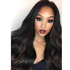 cheap Human Hair Wigs-100% Virgin Remy Human Hair Glueless Lace Front Wig Brazilian Hair Wavy Wig 130% 150% 180% Density with Baby Hair Natural Hairline Unprocessed Glueless Women's Medium Length Long Human Hair Lace Wig