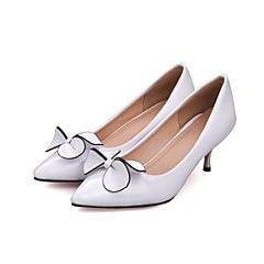 cheap Wedding Shoes-Women's Shoes PU Summer Fall Comfort Novelty Heels Stiletto Heel Peep Toe Bowknot for Wedding Party & Evening White Black Red