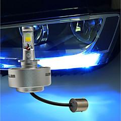 2 stk suteng ledet dagtid kjører lys bredde lampe dobbel farge lyse hvite og blå lys 8w cob dc12v