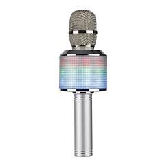 led ışık k51 bluetooth kablosuz kondansatör sihirli karaoke mikrofon cep telefonu müzik çalar mikrofon hoparlör müzik yankı