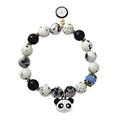 cheap Bracelets-Men's Women's Panda Strand Bracelet - Animal Design Christmas Geometric Black Rainbow Pink Bracelet For Formal Club