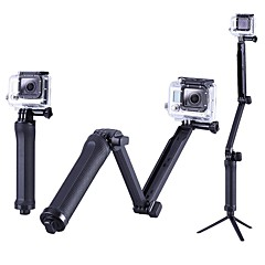 cheap Accessories For GoPro-Tripod Outdoor Portable Case Foldable Extender For Action Camera Gopro 6 All Action Camera All Gopro Gopro 5 Xiaomi Camera SJ4000 SJCAM