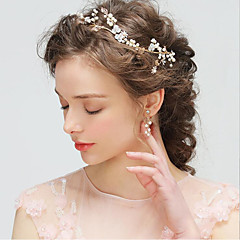 cheap Jewelry Sets-Women's Crystal Floral Jewelry Set Hair Jewelry Earrings - Floral Basic Irregular Drop Earrings For Wedding Party