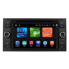 cheap Car DVD Players-7inch 2 DIN 1024 x 600 Android 7.1 Car DVD Player  for Ford High Definition Bluetooth Built-in Bluetooth GPS RDS WiFi Touch Screen SD /