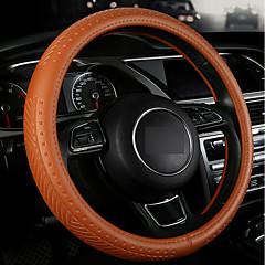 billige Rattovertrekk til bilen-Rattovertrekk til bilen Lær 38 cm Beige / Grå / kaffe Til Volkswagen Alle Modeller Alle år
