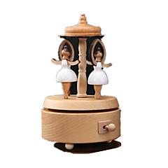 Music Box צעצועים מעגלי סוס קרוסלה סרט מצוייר עץ 1 חתיכות לא מפורט יום הולדת מתנות