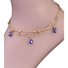 baratos Bijoux de Corps-Tornezeleira - Olho Maligno Vintage, Boêmio, Fashion Dourado Para Presente / Casual / Mulheres