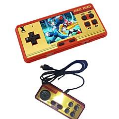 3.0 klassisk retro håndholdt spilafspiller børns videospilkonsol indbygget 638 classic fc spil gratis patron 2d afspiller controller