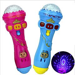 halpa -LED-valaistus Toy Instruments Lelut Mikrofoni Lelut Uutuudet Lelut Family Birthday Kiilto Loma Uusi malli 1 Pieces