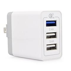 Nabíječka USB 3 Porty Stolní nabíjecí stanice S Quick Charge 3.0 US zásuvka Nabíjení adaptéru