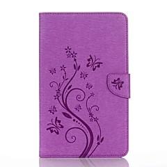 preget mønster kortholder med stativ magnetisk pu lommebok lærveske kort veske med mønster for Samsung Galaxy Tab e 8.0 t377 t377v 8,0