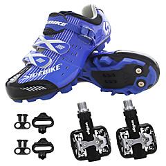 billige Sykkelsko-SIDEBIKE Sykkelsko med pedal og tåjern / Mountain Bike-sko Anvendelig Sykling Rød og Hvit / Svart / Blå / Svart / Gul Herre