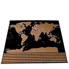 Rubbelkarte Scratch Off Karte der Welt für Reisende Spielzeuge Quadratisch Landkarten Erwachsene 1 Stücke