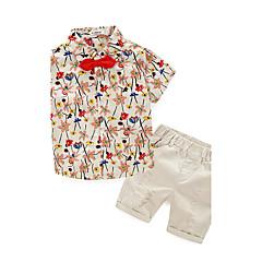 tanie Odzież dla chłopców-Komplet odzieży Bawełna Dla chłopców Lato Krótki rękaw Beige