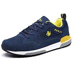 נעלי ריצה נעלי הרים בגדי ריקוד גברים נגד החלקה מוגן מגשם לביש נשימה ספורט פנאי סוליה נמוכה דמוי עור עור גומי צעידה ריצה