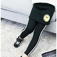 billige Bukser og leggings til piger-Børn Pige Stribe Bukser Sort 140