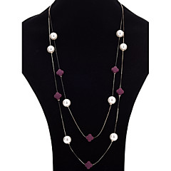 Women's Strands Necklaces Layered Necklaces Imitation Pearl Flower Ball Alloy Fashion Elegant Jewelry For Party Daily