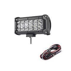 54w 5400lm 6000k 3 satırlı led çalışma ışığı serin beyaz nokta offroad araba / tekne / far için sürüş lambası ip68 9-32v 2m 1-to-1 kablo