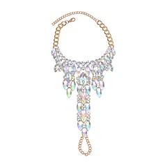 billige Kropssmykker-Luksus Krystall - Dame Regnbue Luksus / Punk Sirkelformet / Geometrisk Form Ankel Til Bursdag / Engasjement