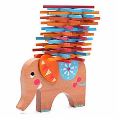 Stavební bloky Dřevěný blok Hračky Slon Dřevo Zvířata Rodina Přátelé 40 Pieces Dárek