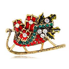 broches pour femmes style mignon chrismas strass alliage bijoux pour cadeau de noël