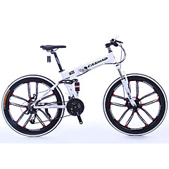 אופני הרים מתקפל אופניים רכיבת אופניים 24 מהיר 700CC/26 אינץ' SHIMANO 65-8 דיסק בלימה כפול מזלג שיכוך אלומיניום אלומיניום Aluminum Alloy