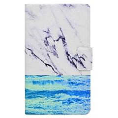 marmor mønster kortholder med stativ flip magnetisk pu lærveske til Samsung Galaxy Tab en 7,0 t280 t285 7,0 tommers tablet pc