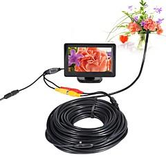 abordables Outils & Equipement-av endoscope caméra 5 v 5.5 mm objectif mini caméra ntsc étanche ip66 inspection endoscope serpent tuyau cam vision de nuit 20 m câble