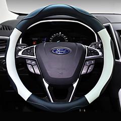 billige Rattovertrekk til bilen-Rattovertrekk til bilen polyester 38 cm Svart / Beige / kaffe For Universell Alle år