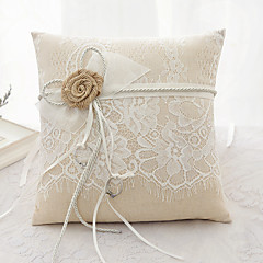 Laces Ribbon Flower(s) Bow Satin Silk Ring Pillows Wedding Ceremony