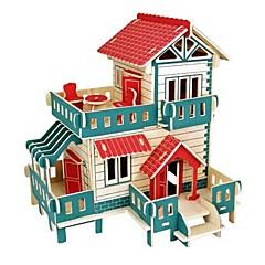 preiswerte -3D - Puzzle Holzpuzzle Holzmodelle Modellbausätze Häuser Mode Burg Haus Klassisch Mode Neues Design Kinder Heimwerken Schlussverkauf Holz