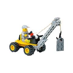 אבני בניין מנוף צעצועים מכונות חפירה 1 חתיכות