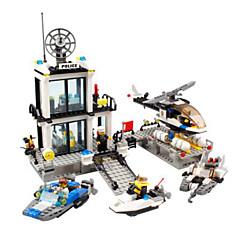 אבני בניין צעצועים משטרה תחנת משטרה ארכיטקטורה קלסי נערים בנים 536 חתיכות