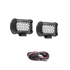 levne -2ks 54w 5400lm 6000k 3-řádky led světlo chladné bílá spot offroad jízdní světlo pro auto / člun / světlomet ip68 9-32v dc