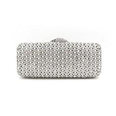 billiga Brudskor-Dam Väskor Metall Aftonväska Kristalldetaljer Silver / Rhinestone Crystal Evening Bags / Bröllopsväskor