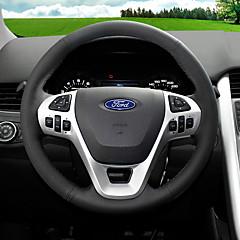 billige Rattovertrekk til bilen-Kjøretøy Rattovertrekk til bilen(Lær)Til Ford Alle år Fiesta Ecosport