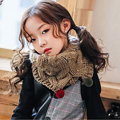 baratos Acessórios para Crianças-Para Meninas Cachecóis Inverno Suéter Rosa Khaki